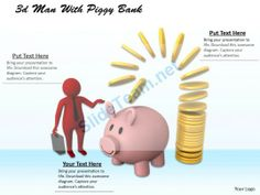 1013 3D Man with Piggy Bank Ppt Graphics Icons Powerpoint #Powerpoint #Templates #Infographics