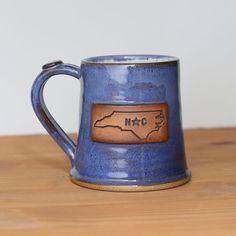 North Carolina State Shape Pottery Mug   North Carolina Kitchen