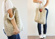 Market Tote Bag Free Crochet Pattern. beginner friendly Crochet Projects that are quick and easy and they are perfect for taking to the local shops or the market.