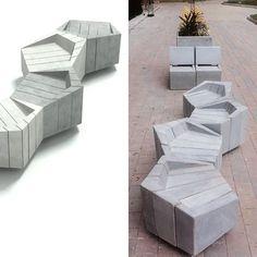 RENDER = REALIDAD Banca SÄMLE Diseño: @konkretus.co @danielrpoa Fabricación:@konkretus.co