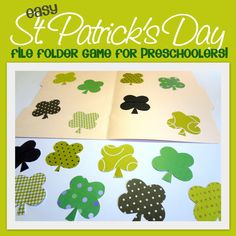 Little Family Fun: St. Patrick's Day File-Folder Game