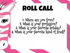 Pink Zebra Games roll call