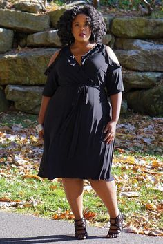 Plus Size Dresses Curvalicious Clothes :: Plus Size Dresses :: Barcelona Wrap Dress - Black  Women's Plus Size Clothing, Plus Size Dresses, Plus Size Fashion