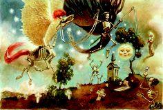 Stunning artwork of Agnes Indre: http://www.agnesindre.com/index.html