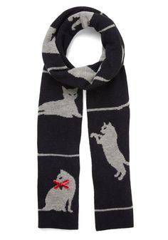Fur-ever and Ever Scarf. Your clever style doesnt stop when the seasons change - instead, you wrap this cat scarf by Alice Hannah London around your ensemble! #black #modcloth