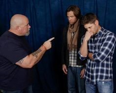 Jared Padalecki and Jensen Ackles - Awwww, they're still like little kids! ADORABLE!
