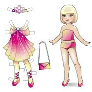 Paper doll. Princess collection