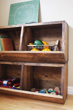 Toy Storage Bins Woodworking Plans by irontimber on Etsy