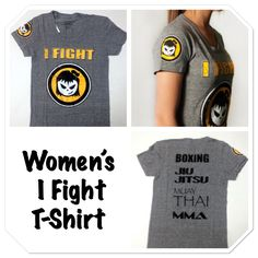 Check out our product of the week! Women's I fight t-shirt.  Shop fightergirls.com. The 1st & original in women's MMA. Best quality & dedicated to the female warrior.  Http://www.fightergirls.com/shop.  #fightergirls #wmma #womensmma #fightwear #sportswear #training #crosstrain #BodyCombat #grappling #kickboxing #jiujitsu #gym #circuttraining #muaythai #boxing