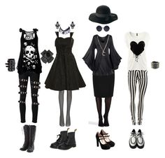 """Nu Goth #3"" by queenstormrider ❤ liked on Polyvore featuring Paige Denim, Poizen Industries, SPANX, Wolford, Warehouse, Miu Miu, Retrò, Alkemie, claire's and vintage"