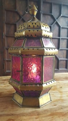 www.yellowsunrise.co.uk Moroccan Lantern with votive candle.