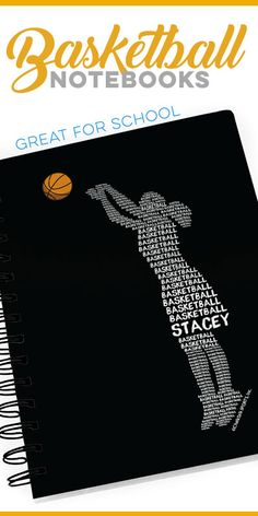 Personalized Girls Basketball Words - See all of basketball notebooks and other back to school ideas on our website.