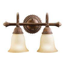 "View the Kichler 5215 Larissa 15.5"" Wide 2-Bulb Bathroom Lighting Fixture at LightingDirect.com."