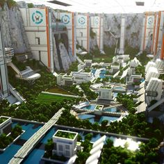 My latest and greatest Minecraft build, The Canyon City : Minecraft Minecraft Posters, Minecraft City, Cool Minecraft, Minecraft Buildings, Minecraft Structures, Minecraft House Designs, Minecraft Projects, Minecraft Pictures, Minecraft Architecture