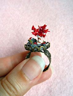 Game of Thrones glass dome ring  the Godswood by MijbilCreatures, $68.00