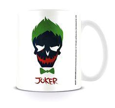Suicide Squad Mug Joker Skull DC Comics White boxed - Paradiso Clothing
