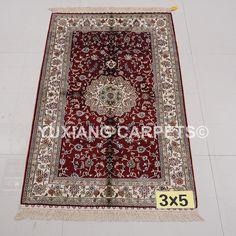 Nanyang Yuxiang Co. China's largest manufacturer of handmade silk carpet. Persian Carpet, Persian Rug, Hand Knotted Rugs, Oriental Rug, Rugs On Carpet, Bohemian Rug, Wool, Silk, Handmade