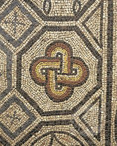 Mosaic Work in an early church rumored to have been started by St. Mark. Aquilea, Italy