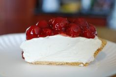 """Yummy No Bake Cheesecake"" at ""Random Thoughts of a Supermom!""  Easy and not as stiff as some recipes.  Looks good!"