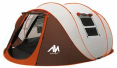 Ayamaya Pop Up Tent with Vestibule   Mountains For Everybody Family Camping, Tent Camping, Best 4 Person Tent, Lantern Hooks, Shelter, Instant Tent, Pop Up Tent, Vestibule, Sport