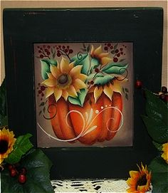 Welcome to ToleTown's Online Studio! I used to do tole painting years ago. Welcome to ToleTown's Online Studio! I used to do tole painting years ago. Pumpkin Canvas Painting, Fall Canvas Art, Autumn Painting, Autumn Art, Tole Decorative Paintings, Tole Painting Patterns, Decoupage, Fabric Painting, Painting Studio