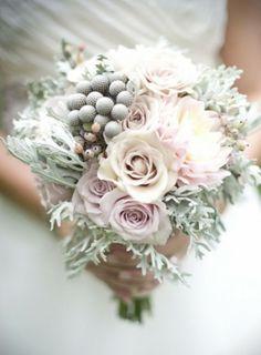 pasztell menyasszonyi csokor