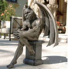 Design Toscano Socrates the Gargoyle Thinker Sculpture