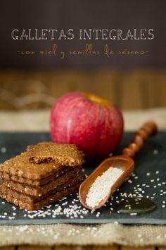 Galletas integrales | Tapas, Coconut Flour Recipes, No Bake Cookies, I Love Food, Sweet Recipes, Cookie Recipes, Bakery, Favorite Recipes, Sweets