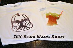 diy star wars shirt {with decoart ink effects} | Little Birdie Secrets