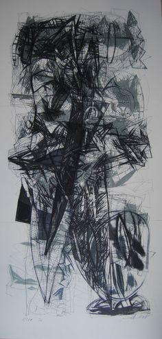 Klaus Endrikat Triptychon Abstrakt Handsigniert 18/70 Lithographie Fabiano 1992
