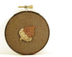 #punch needle #acorn #fall
