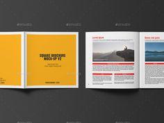 Buy Square Brochure / Catalogue Mockup by professorinc on GraphicRiver. Square Brochure / Catalogue Mockup Photorealistic mock-up 12 PSD files. Brochure Template, Presentation Templates, Lorem Ipsum, Mockup, Catalog, Communication, Ads, Brochures, Model