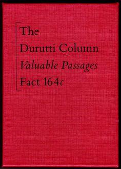 The Durutti Column - Valuable Passages (Cassette) Record Label Logo, Label Design, Graphic Design, St Ambrose, Factory Records, Peter Saville, Michael Johnson, Music Artwork, Joy Division
