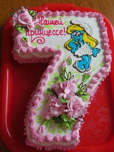 The photo - Cake Decorating Writing Ideen Bright Birthday Cakes, 7th Birthday Cakes, Birthday Cake With Photo, Cake Decorating For Beginners, Cake Decorating Tutorials, Beautiful Cake Designs, Wedding Anniversary Cakes, Cake Shapes, Barbie Cake