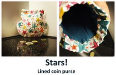Stars! Coin Purses, Drawstring Backpack, Coins, Stars, Collection, Coin Wallet, Coining, Rooms, Coin Purse