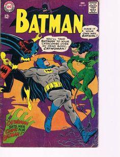 Vintage Batman Comic 197 G Batgirl Catwoman Appearance | eBay