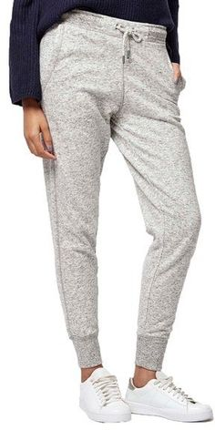 Topshop Slim Fit Marled Jogger Pants available at Jogger Pants, Joggers, Modest Workout Clothes, Workout Outfits, Retro Look, Skin Tight, Modest Outfits, Athleisure, Winter Outfits