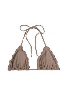 Luli Fama Luli Fama Triangel-Bikini-Top Cosita Buena Wavey – Braun