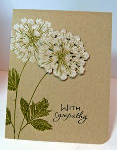 Cards-by-the-Sea: CASology #57, Make it Monday #129, and a Sympathy Card Memorial Cards, Card Creator, Scrapbook Paper Crafts, Scrapbook Cards, Get Well Cards, Card Maker, Dandelions, Kraft Paper, Pretty Cards