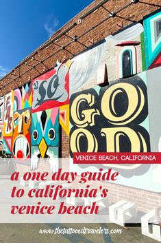A One Day Guide To California's Venice Beach - Travel Inspiration! Venice Beach, Stuff To Do, Things To Do, Canada Destinations, Beach Trip, Beach Travel, Family Road Trips, Travel Guides, Travel Tips