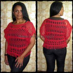 Aceito encomenda, blusa em crochê de grampo (hairpin lace crochet/horquilla)