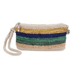 The newest wristlet in our crochet family is easy to wear and fits everything you need for a day out, whether it be shopping or a night out on the town!