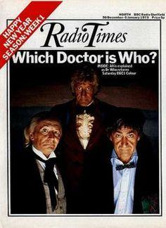 Radio Times Doctor Who 1972 - William Hartnell, Patrick Troughton & Jon Pertwee, The Three Doctors