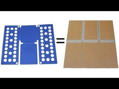 DIY shirt folding board from cardboard and duct tape!