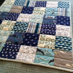 CUSTOM FOR EVE baby boy nautical quilt by dearlizacreations, $95.00