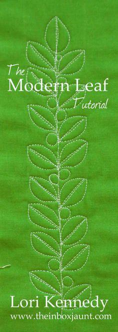 Moderní Leaf, Volný Motion prošívání