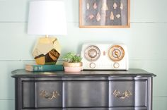 get the look: gold lamps