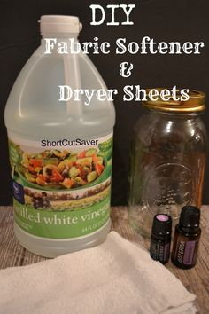 DIY Fabric Softener & Dryer Sheets (Save Money with these simple ingredients) - Short Cut Saver