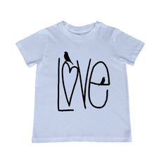 Love kids TShirt, image in ANY COLOR - infant, todder, youth by lesleyhornbeck on Etsy, $10.00