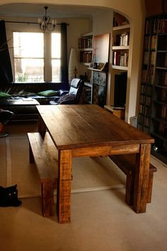 I'm planning on making a table - may borrow from this design...